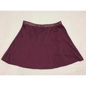 The Limited Skirts - Burgundy Circle Skirt - The Limited